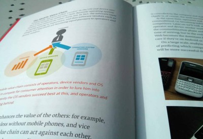 Page spread from The Mobile Book