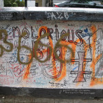 Graffiti in front of Abbey Road Studios