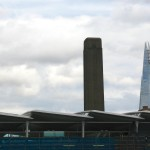 Modern and really modern: The tower of Tate Modern and the Shard.